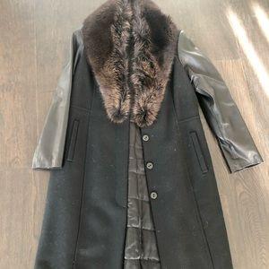 Brand New Danier coat with Fur